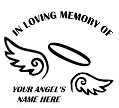 Friends Of The Angel Memory Window Decals - Window decals in memory of